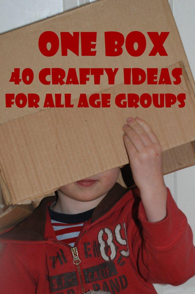 40 Box Craft ideas - What to make from a Box