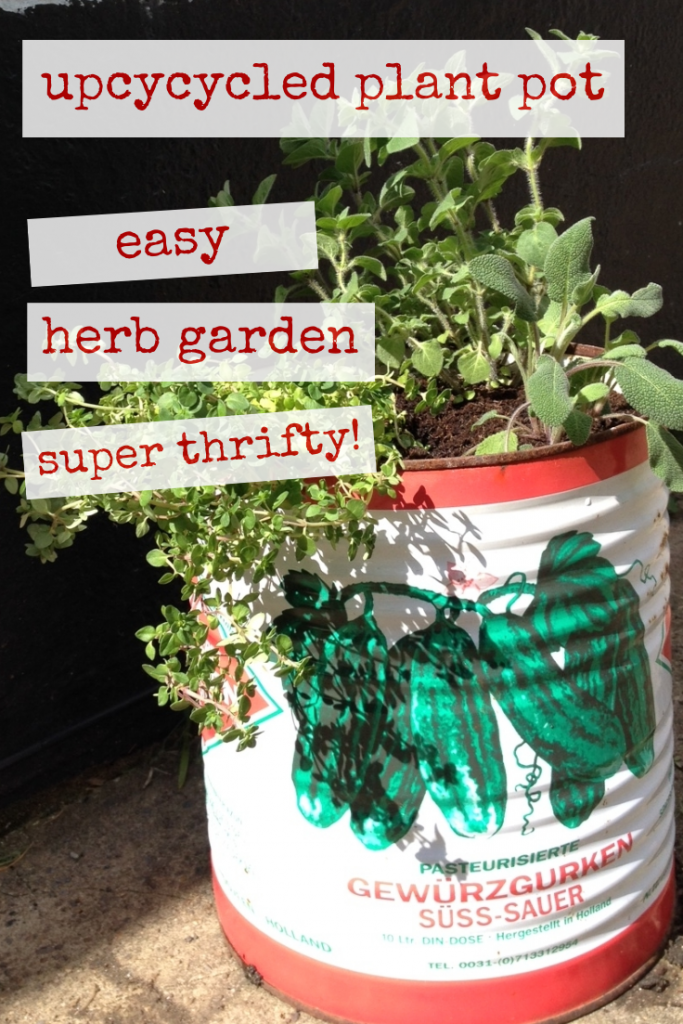 Upcycled plant pot herb garden - Crafts on Sea