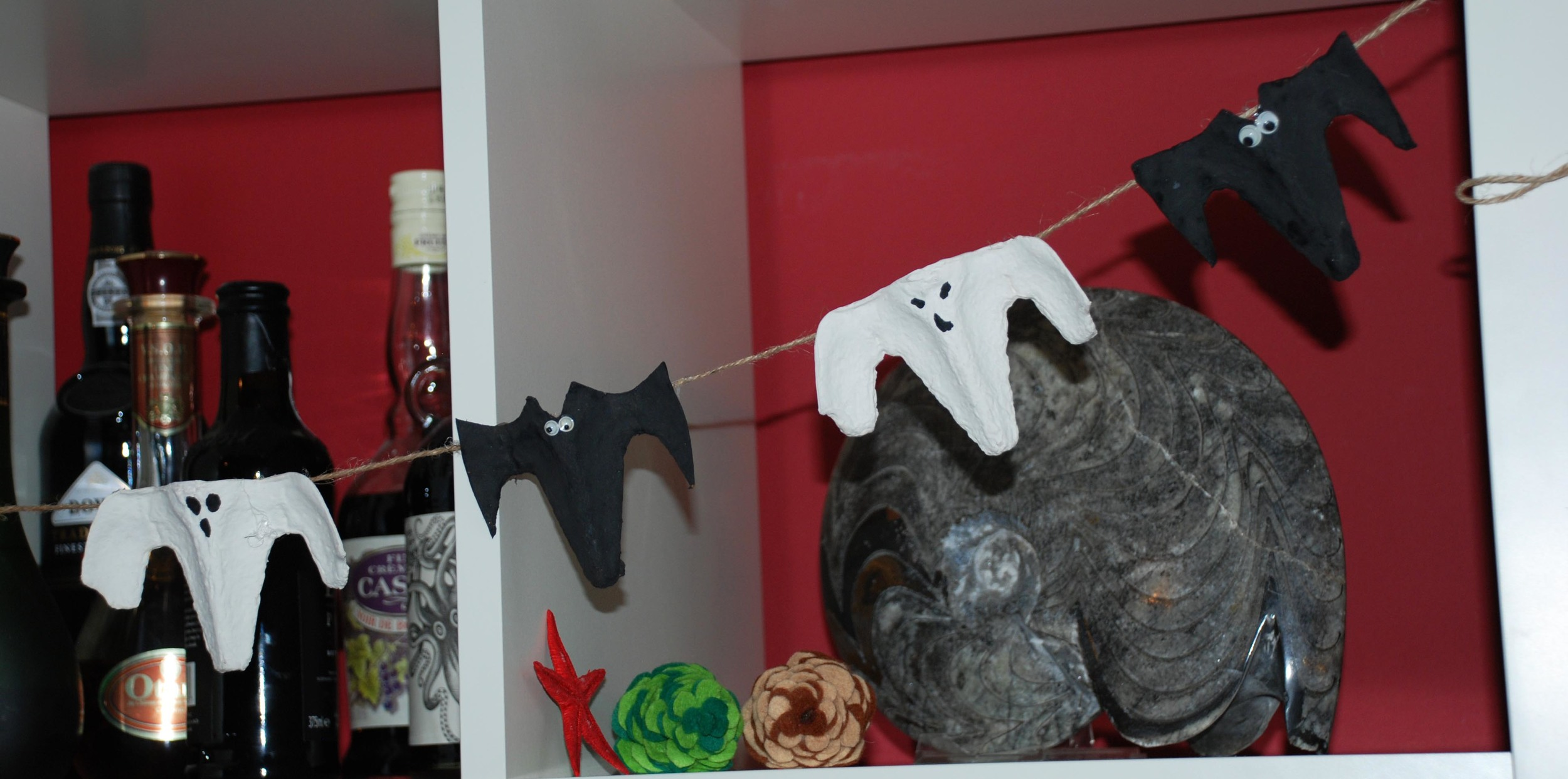 Ghost & Bat Halloween Bunting