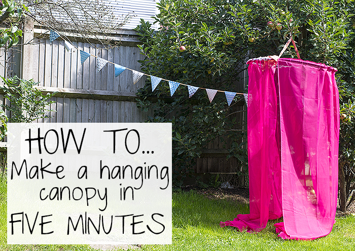 How To Make A Hanging Canopy In Five Minutes
