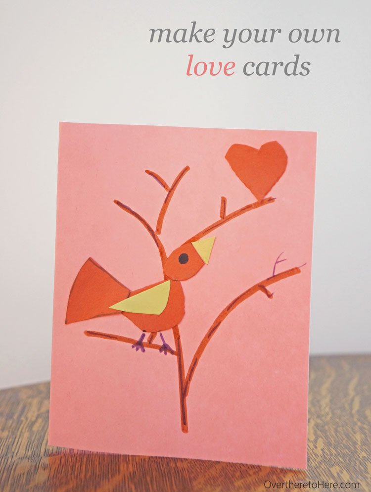 Tweet Love and Solar Planet Love Cards free template - Over there to Here