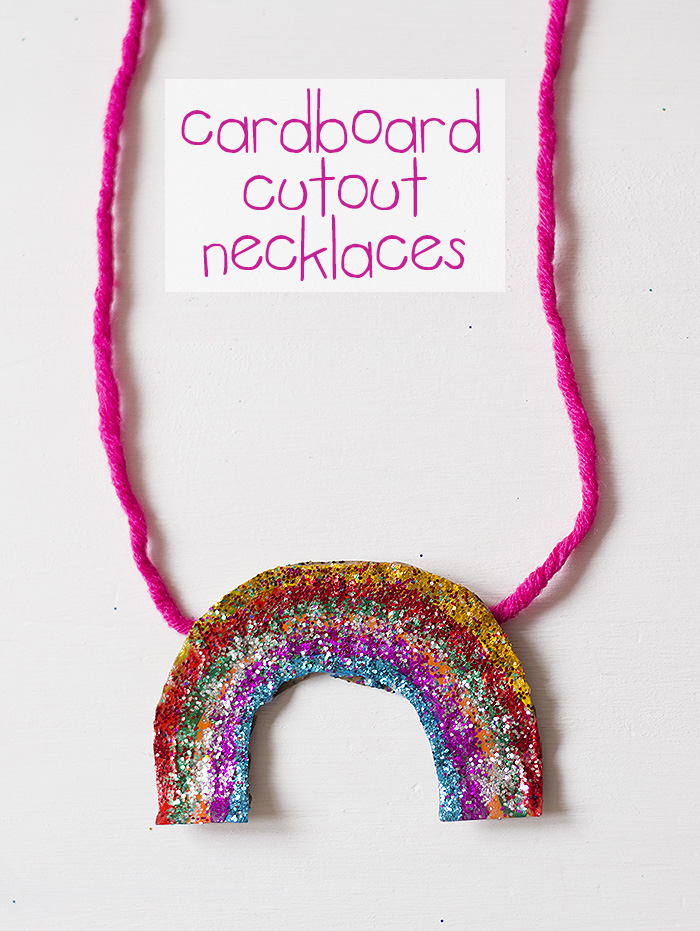 Cardboard Shape Necklaces