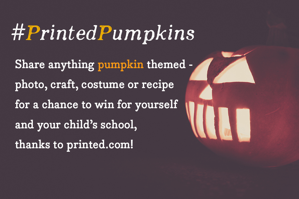 Win this Halloween by sharing your #PrintedPumpkins !
