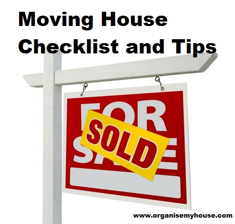 Moving House Countdown Checklist and Tips from Organise My House