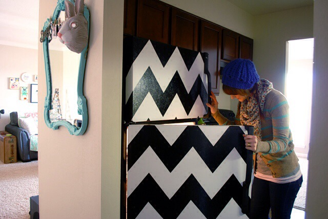 Thrifty Home: Five Fun DIY Fridge Transformations