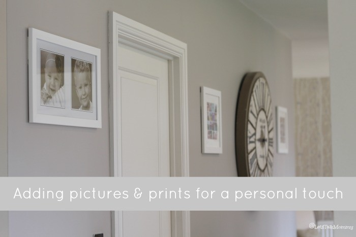 Adding pictures & prints for a personal touch
