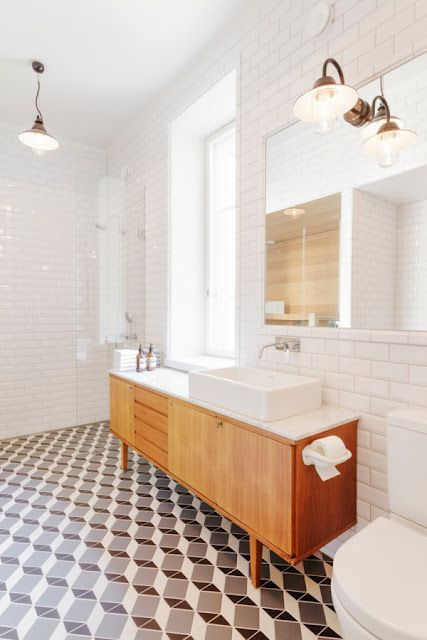 Nordic geometric bathroom inspiration