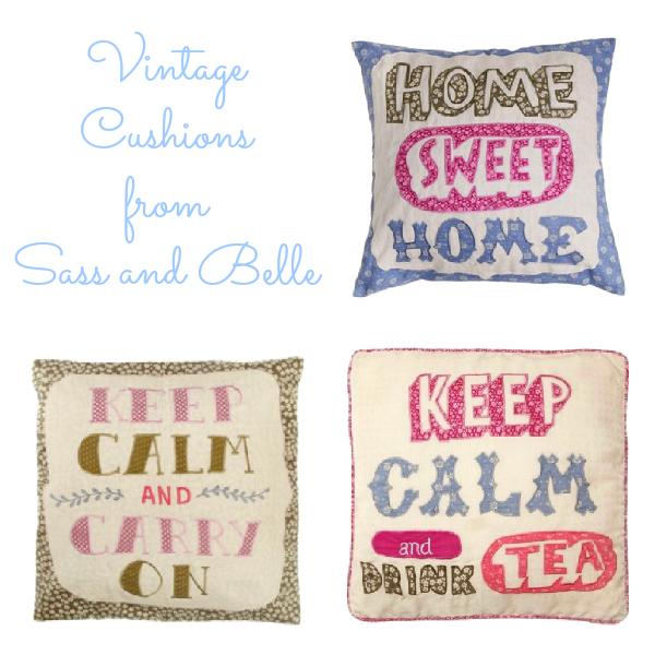 My new vintage cushions from Sass & Belle