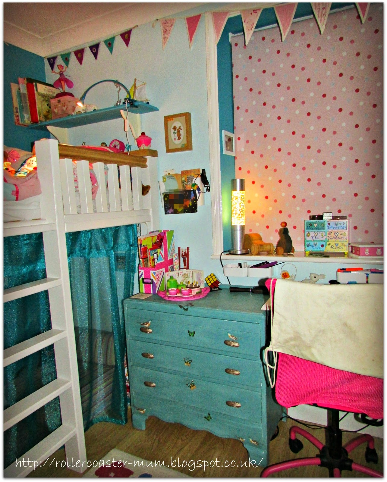 How to Change a Room from Pink to Turquoise on a budget