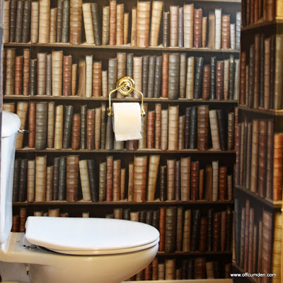 How to turn your toilet room into a library!