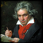 Musical maestro Beethoven attends a rave
