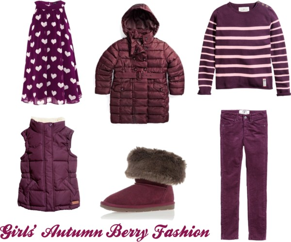 Girl's Autumn Fashion in Berry