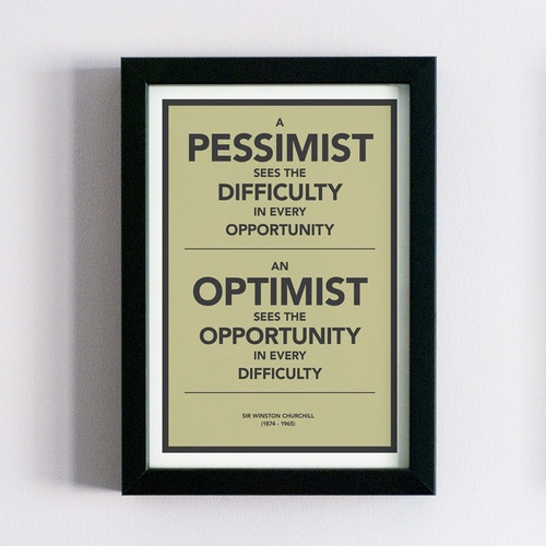 Musing on a Monday {the optimist vs the pessimist}