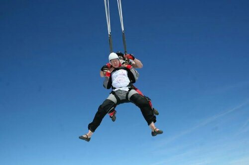 Pay to laugh at my terrified skydiving photos? For Charity!