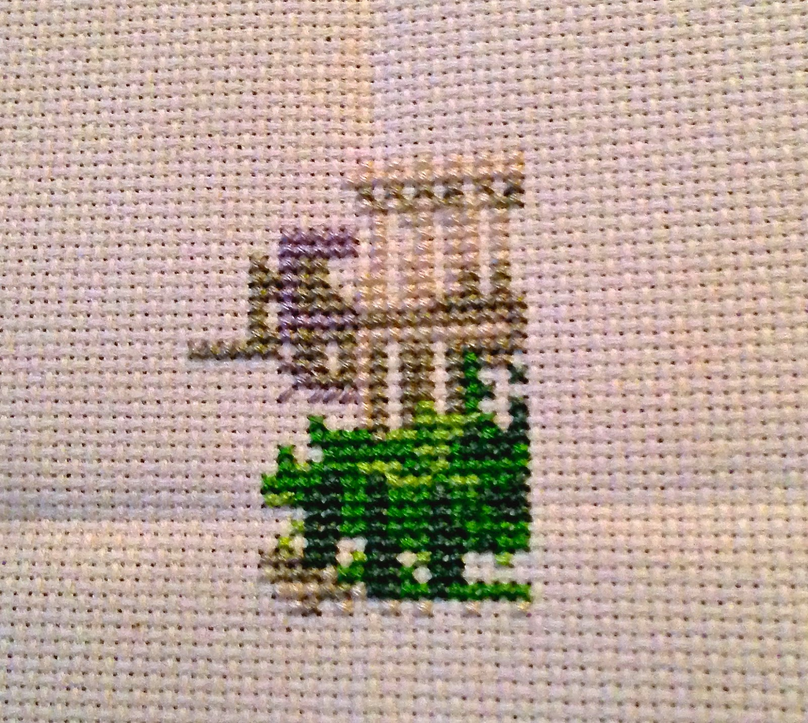 Cross-stitch Progress Week 2