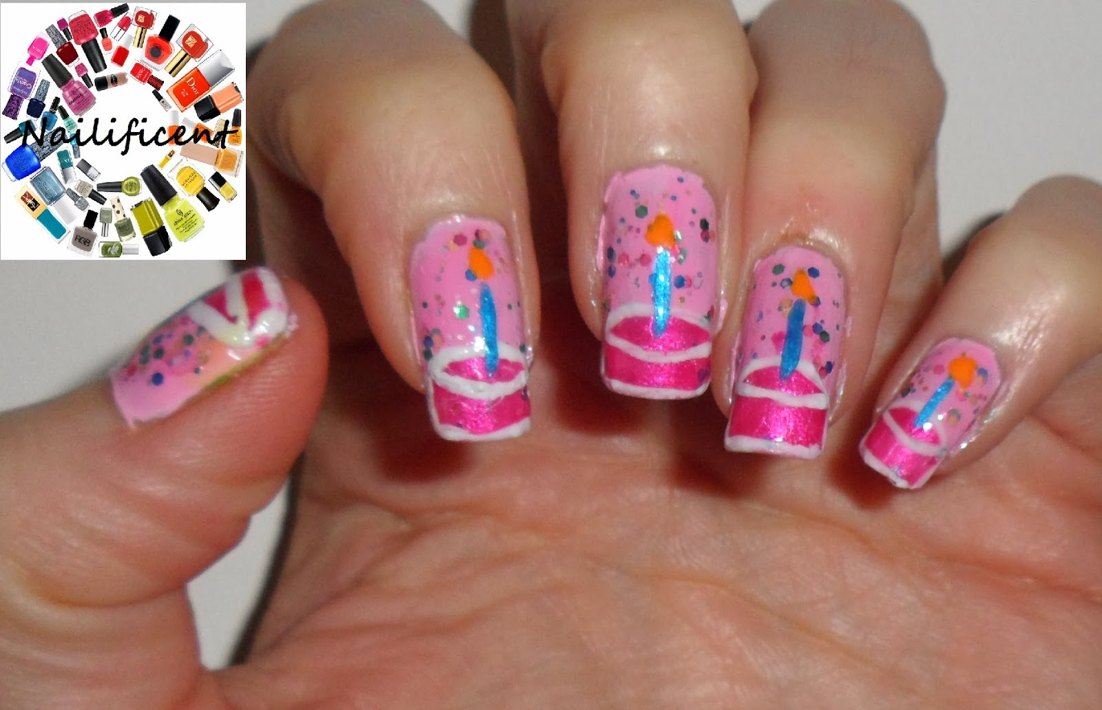 Birthday Cake Nail Art