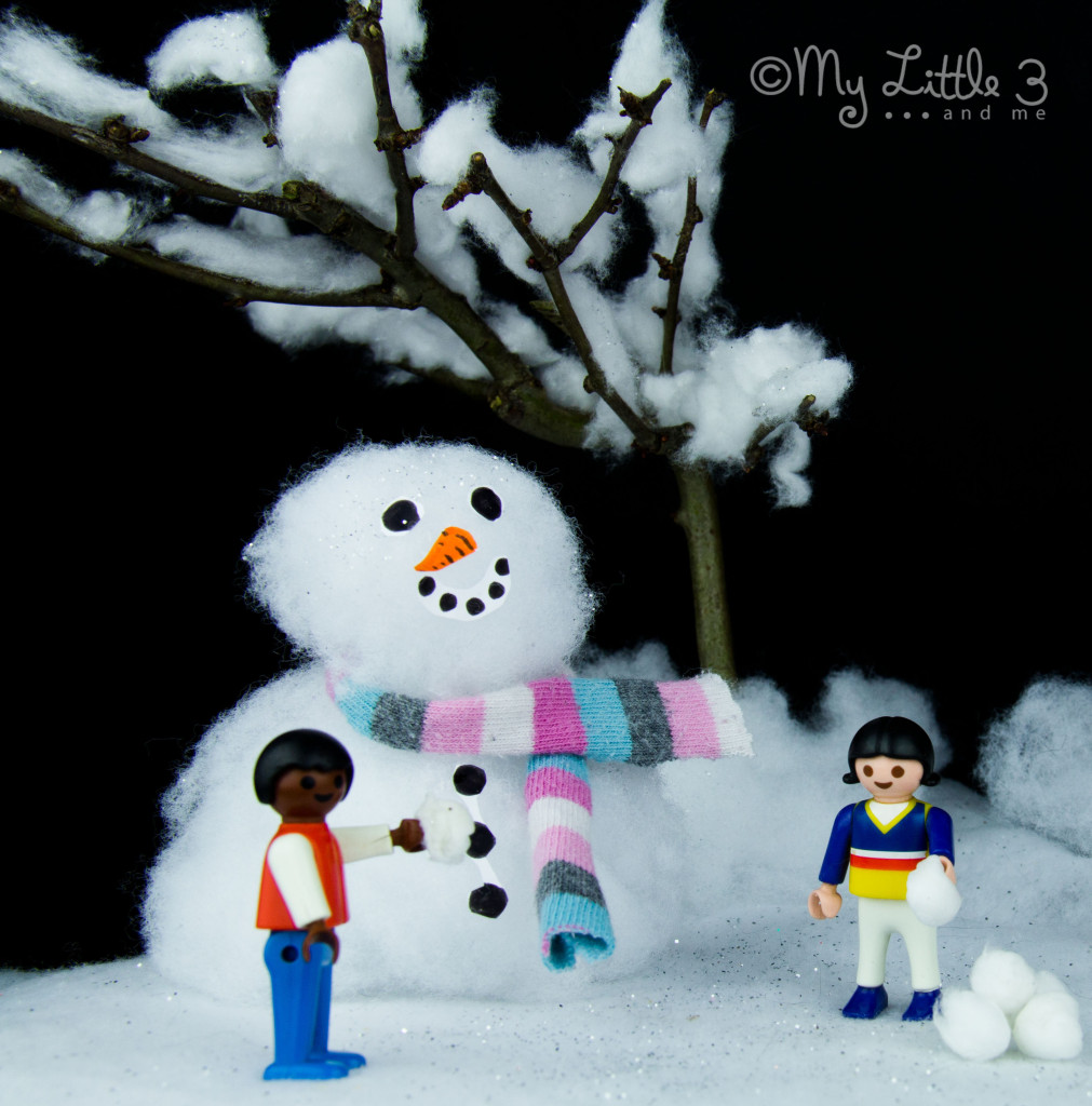 Homemade Small World Snow Scene
