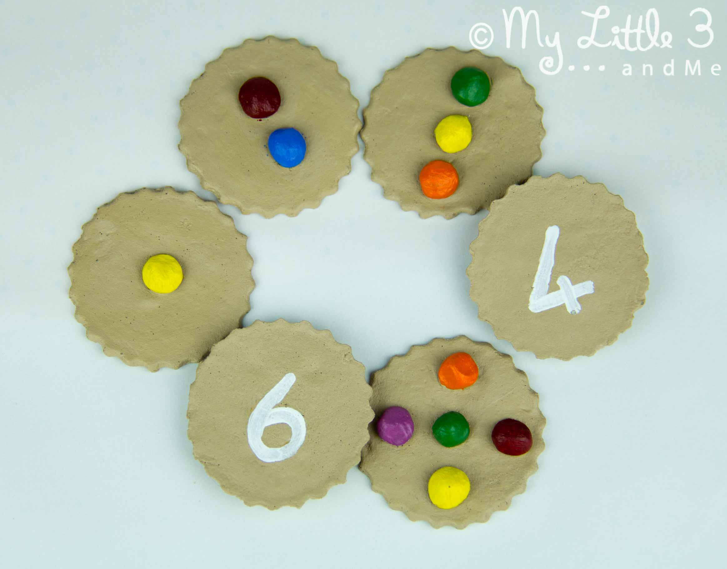 Counting Cookies (Simple Salt Dough Recipe) - My Little 3 and Me