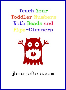 Teach Your Toddler Numbers With Beads and Pipe-Cleaners