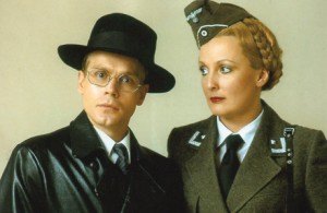 Herr Flick and Helga. (Helga has ways of making you sing).Man in his pyjamas