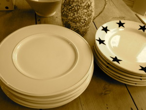 My treasured blue star plates