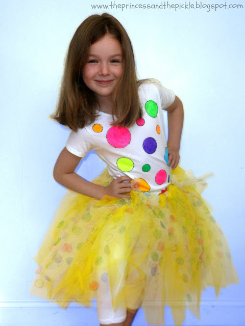 Lots of spots for Children In Need! Charity auction for a spotty tutu!