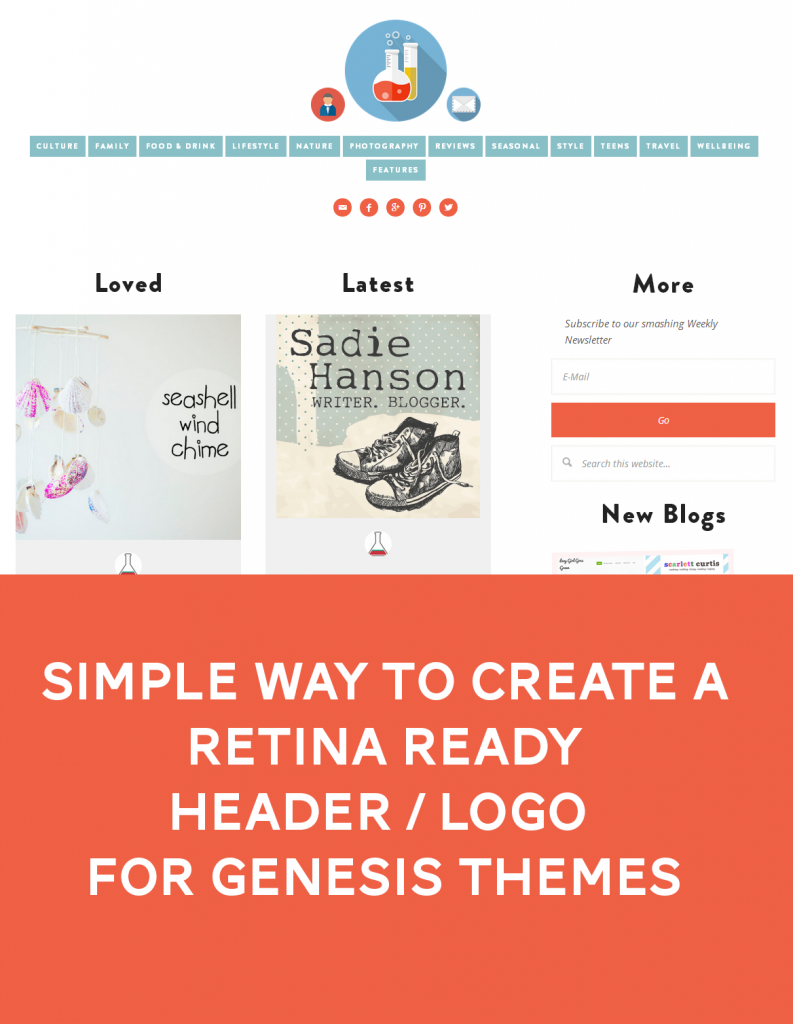 Simple way to create a retina ready header / logo for Genesis themes