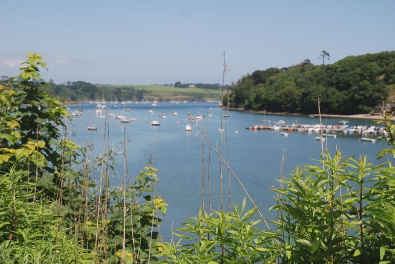 Kestle Barton and Helford river