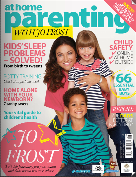Baby Budgeting is featured in Jo Frost's At Home Parenting Magazine