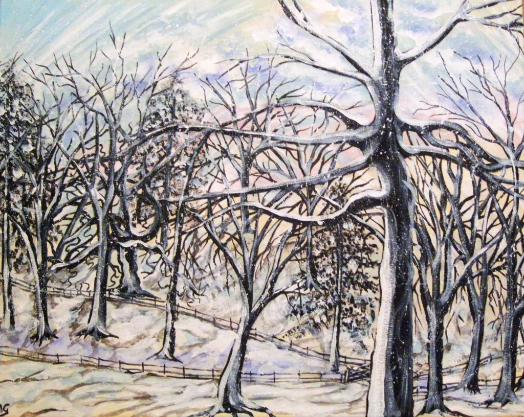 Painting a winter scene...