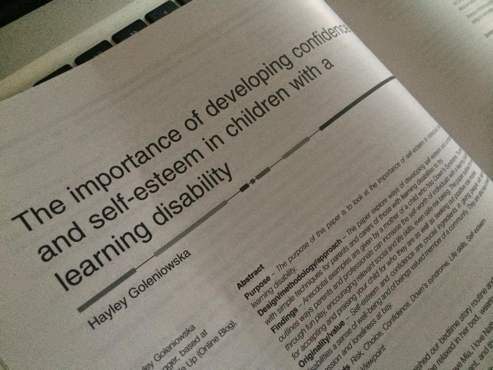 The importance of developing self-esteem in children with a learning disability