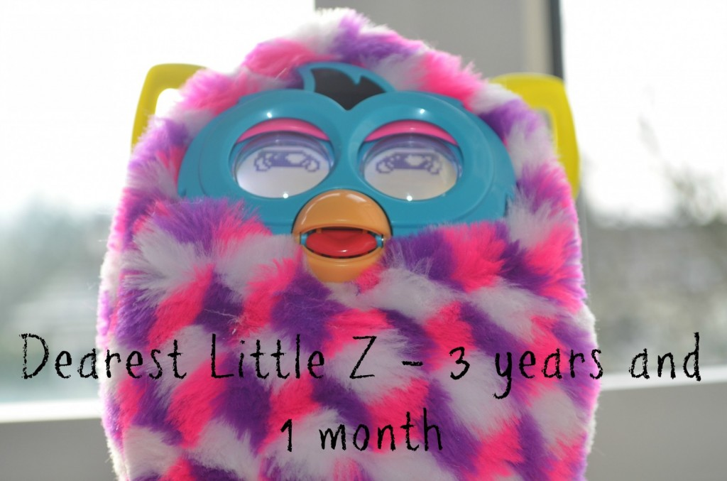 Dearest Little Z at 3 years and 1 month