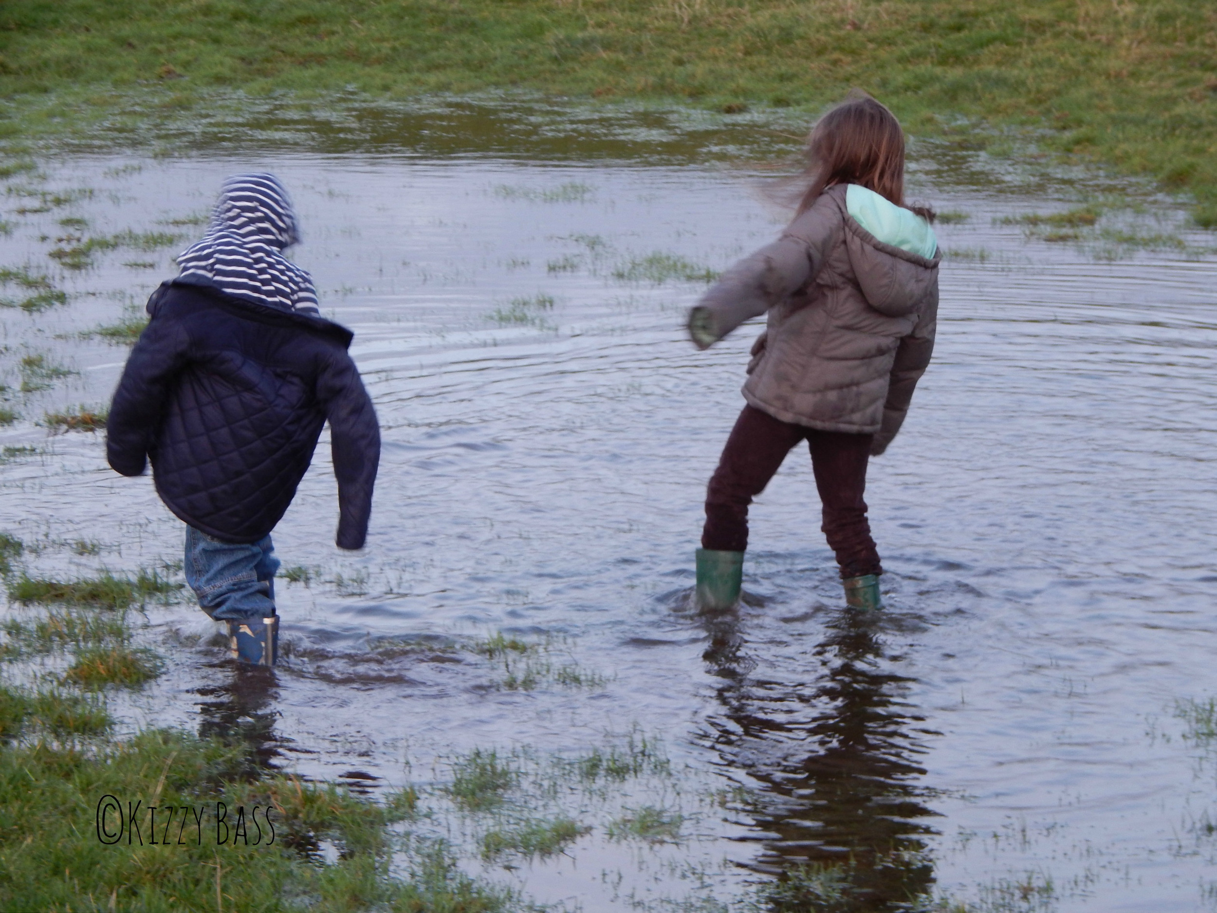 Muddy puddles are such fun #magicmoments #whatsthestory
