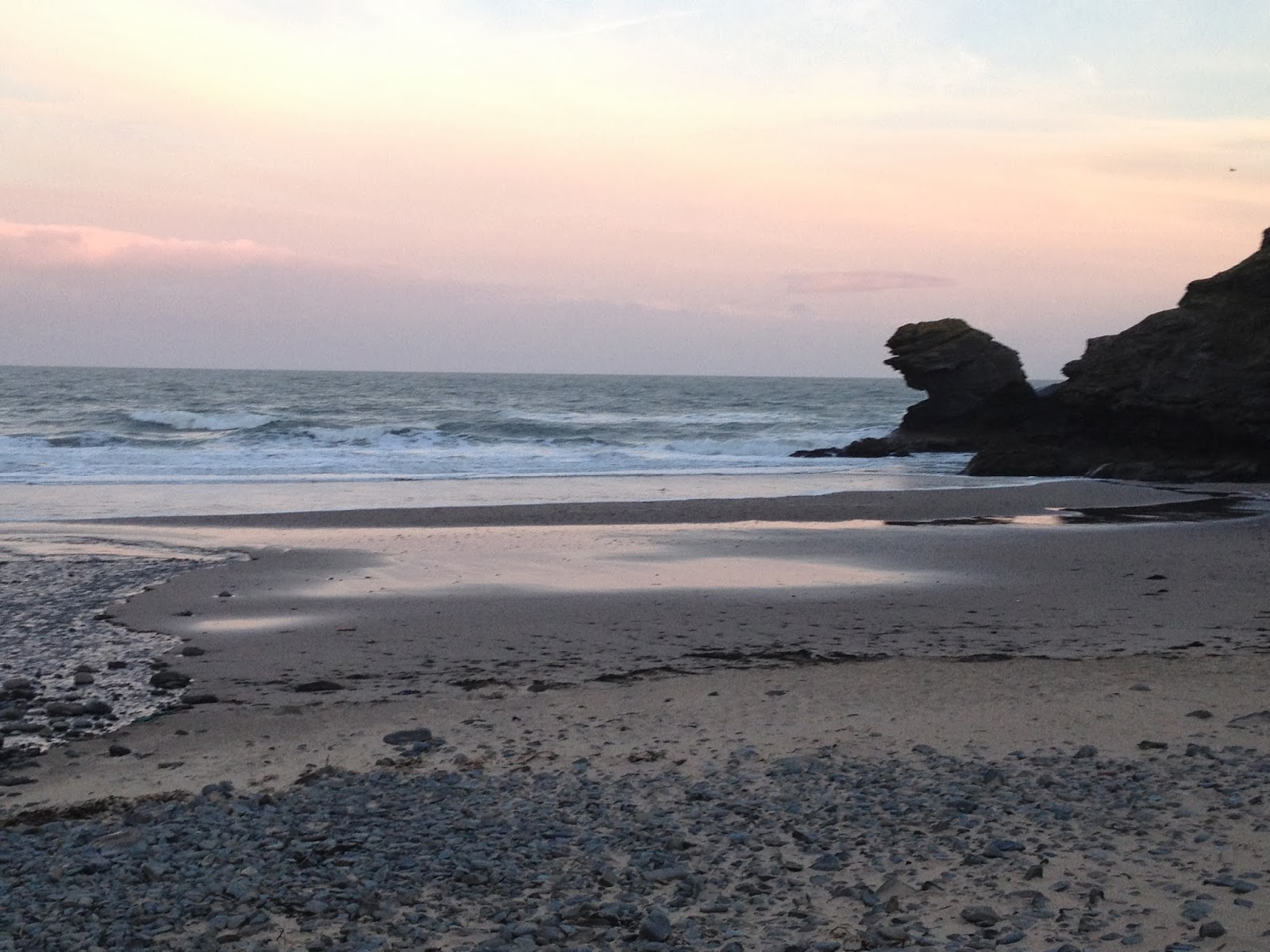 Welsh beaches in Winter - and a distinct lack of chips at The Ship Inn, Tresaith