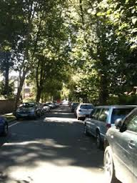 Parking in a residential area