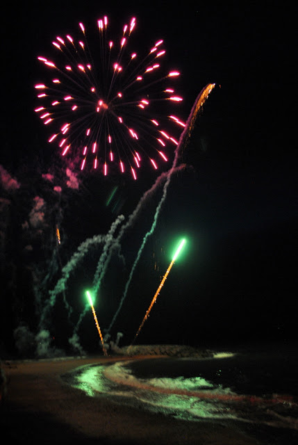 Fireworks in August