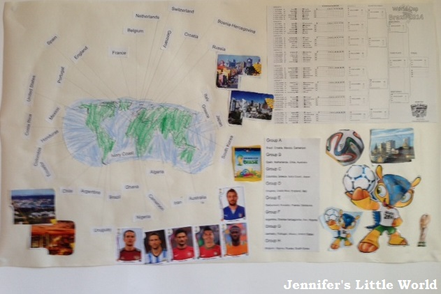 World Cup 2014 poster to make with children