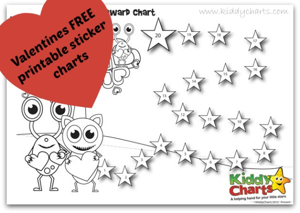 FREE loveable valentines behaviour charts for your little loves