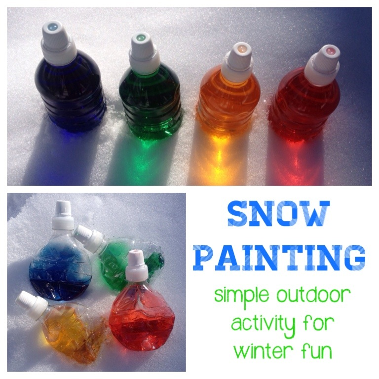 mumturnedmom: Mess: snow painting