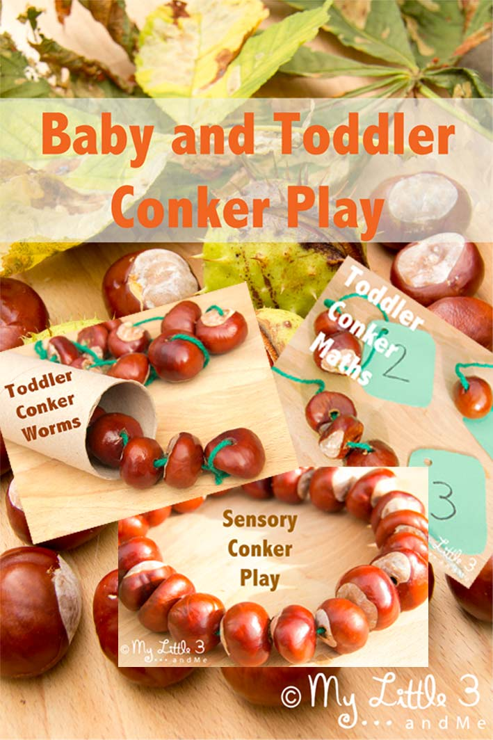 Baby and Toddler Conker Play - My Little 3 and Me