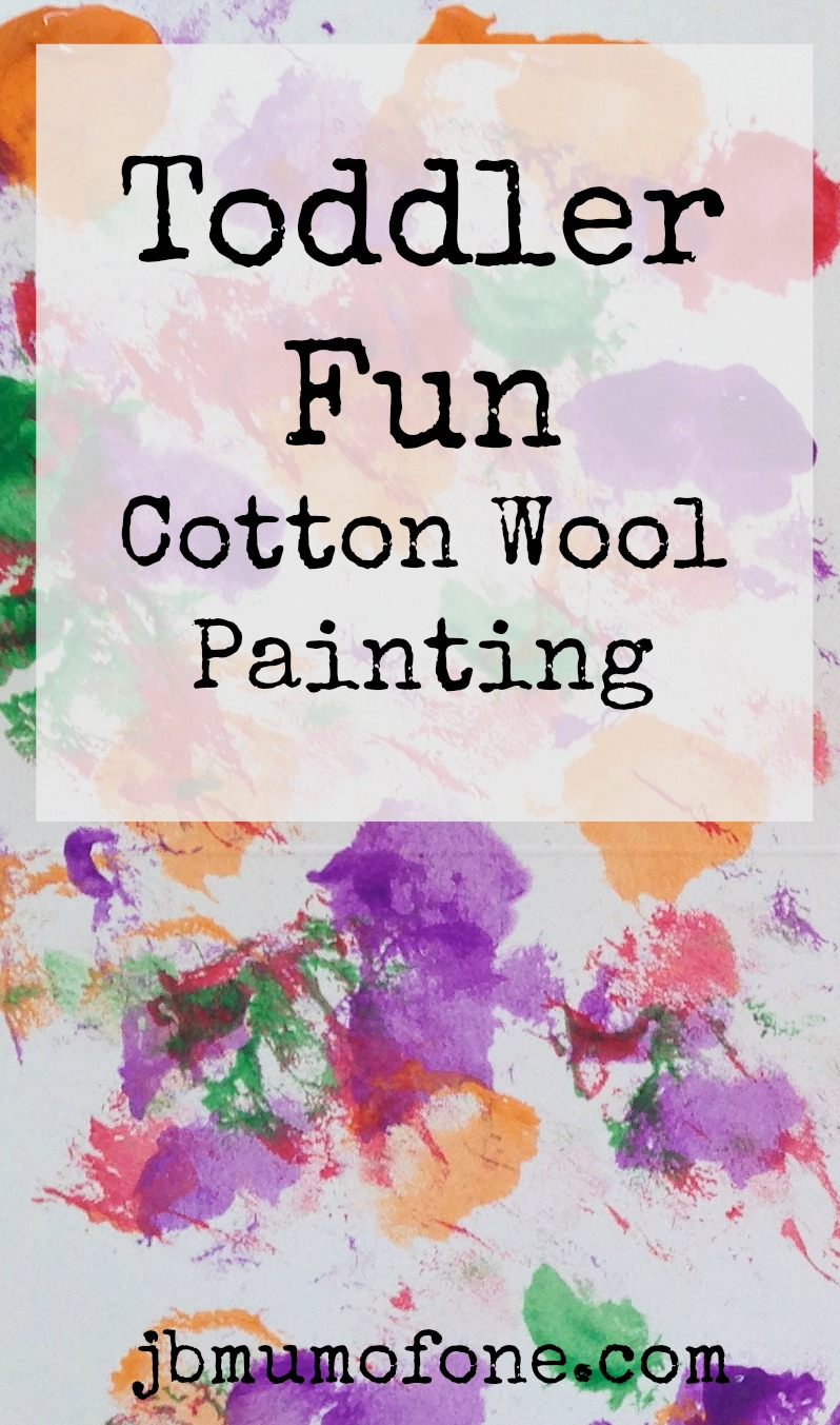 Painty Toddler Fun: Cotton Wool Painting