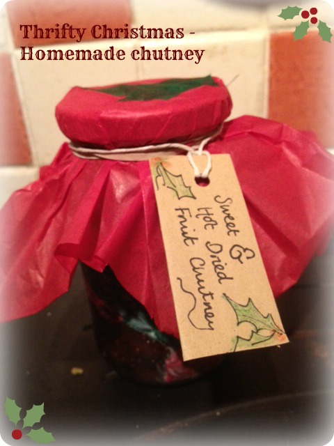 Thrifty Christmas gifts - homemade Sweet and Hot Dried Fruit Chutney