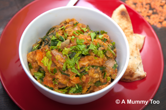 Slow cooked, low fat lentil curry (recipe)