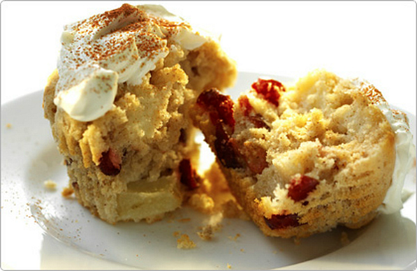 Christmas Recipe: Spiced Apple & Cranberry Midnight Muffins