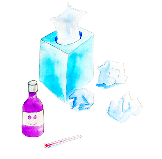 Dealing with coughs, colds and high temperatures
