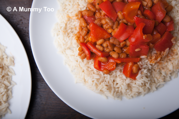 Baked bean and red pepper 5 minute chilli (recipe)