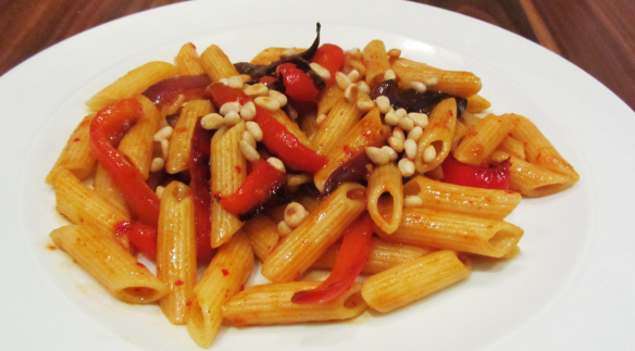 Roasted Vegetable and Harissa Pasta