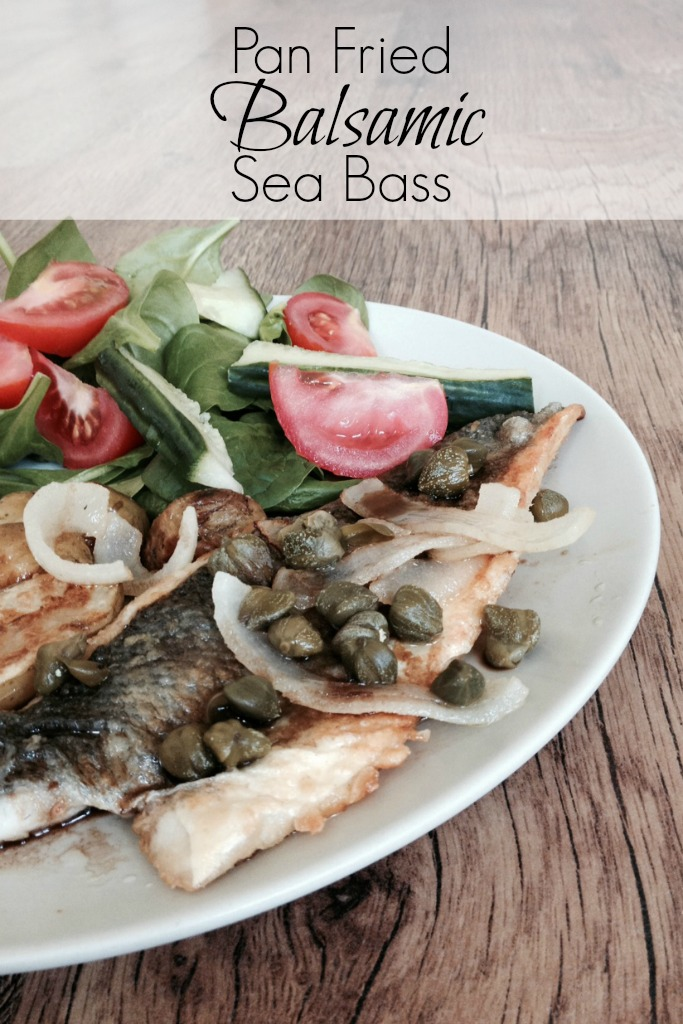 Family Friendly Pan Fried Sea Bass Recipe with Balsamic Vinegar - Crafts on Sea