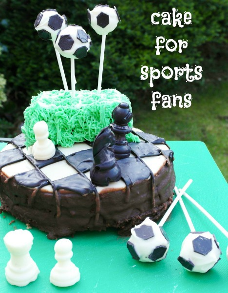 Sporty cakes for team honk: How to decorate a Chess and Football cake
