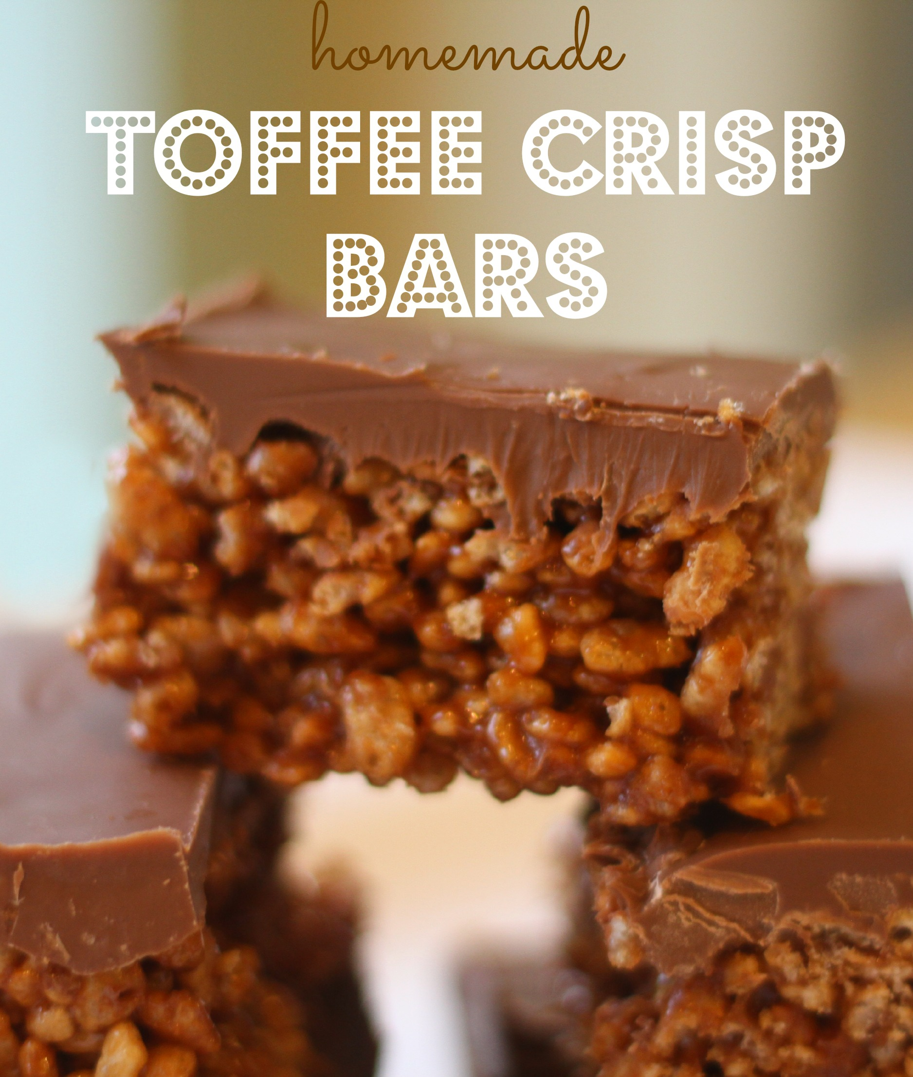Homemade Toffee Crisp Bars